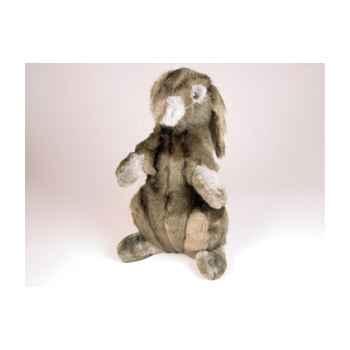 Peluche assise lapin gris 40 cm Piutre -720