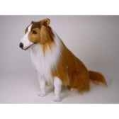 peluche assise collie 65 cm piutre 1273