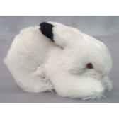 peluche lapin noir et blanc 20 cm piutre 706