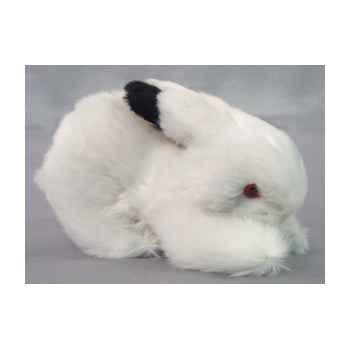 Peluche lapin noir et blanc 20 cm Piutre -706