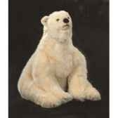 peluche assise ours polaire 70 cm piutre 2127
