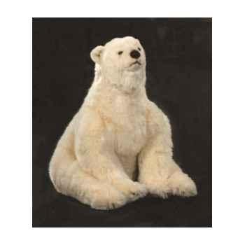 Peluche assise ours polaire 70 cm Piutre -2127