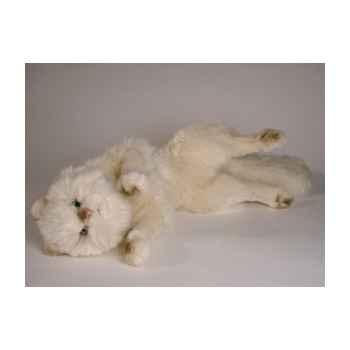 Peluche chat beige qui joue 50 cm Piutre -317