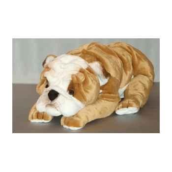 Peluche allongée bull-dog 90 cm Piutre -276