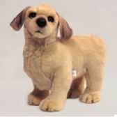 peluche debout golden retriever 40 cm piutre 2203