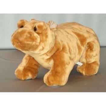 Peluche hippopotame couché 50 cm Piutre -G123