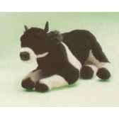 peluche allongee vache noire et blanche 55 cm piutre 2687