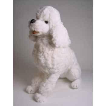 Peluche assise poodle blanc 60 cm Piutre -258
