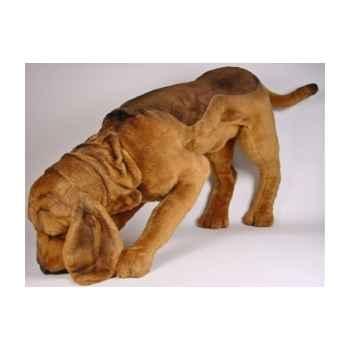 Peluche chien de Saint Hubert en poursuite 90 cm Piutre -2269