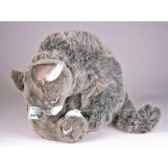 peluche assise chat soriano avec chaton 38 cm piutre 318