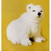 peluche assise ours polaire 45 cm piutre 2115