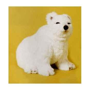 Peluche assise ours polaire 45 cm Piutre -2115