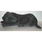 peluche allongee panthere noire 105 cm piutre 2519