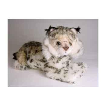 Peluche allongée lynx 40 cm Piutre -2554