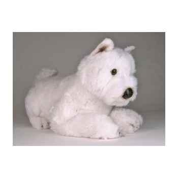Peluche allongée west higland scottish terrier 45 cm Piutre -2276