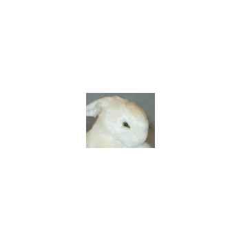 Peluche lapin blanc 30 cm Piutre -708