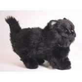 peluche debout chat persan noir 30 cm piutre 2398