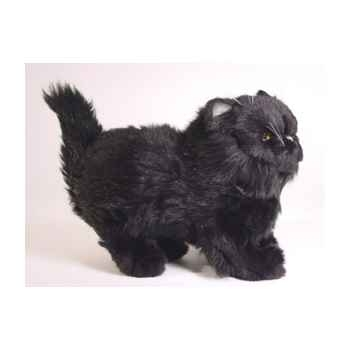 Peluche debout chat persan noir  30 cm Piutre -2398