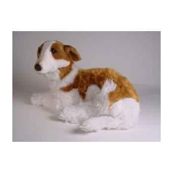 Peluche allongée chien barzoi 60 cm Piutre -275