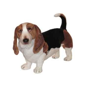 Peluche debout basset-hound 90 cm Piutre -3274