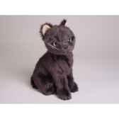 peluche assise mascotte chat bleu de russie 24 cm piutre 4290
