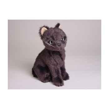 Peluche assise mascotte chat bleu de Russie 24 cm Piutre -4290