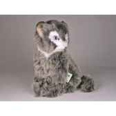 peluche assise chat soriano 24 cm piutre 321