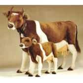 peluche debout vache marron et blanche 240 cm piutre 2703