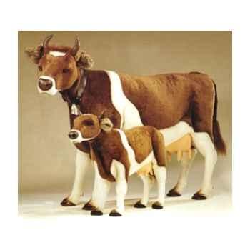 Peluche debout vache marron et blanche 240 cm Piutre -2703