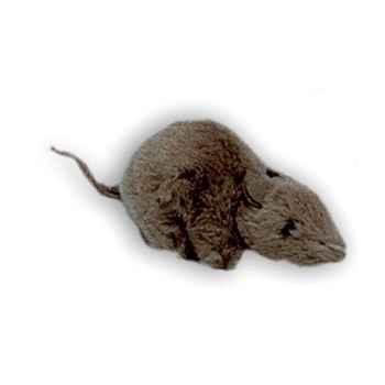 Peluche souris noire 12 cm Piutre -626