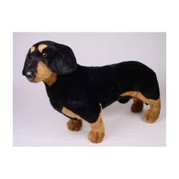 Peluche debout teckel dachshund 60 cm Piutre -1210