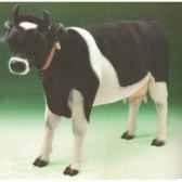 peluche debout vache noire et blanche 240 cm piutre 2685