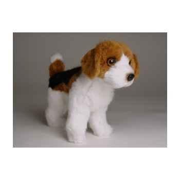 Peluche Miniature debout beagle 24 cm Piutre -4284