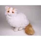 peluche assise chat turc de van 45 cm piutre 2316