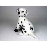 peluche assise dalmatien 40 cm piutre 3243