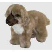 peluche debout chien leonberg 28 cm piutre 3365