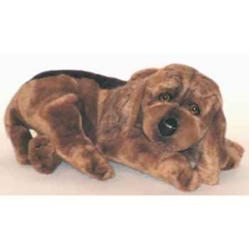 Peluche allongée chien de Saint Hubert 35 cm Piutre -3220