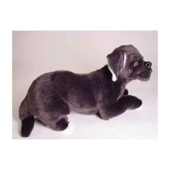 Peluche allongée mastiff napolitain 45 cm Piutre -1298