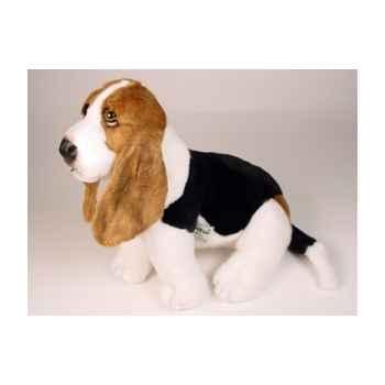 Peluche assise basset-hound 45 cm Piutre -3349
