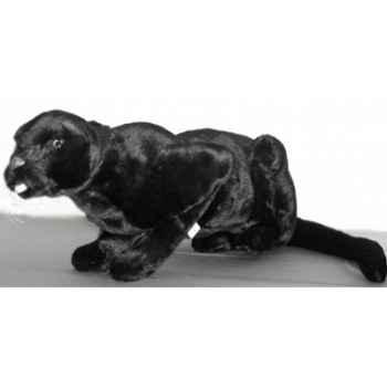 Peluche allongée panthère noire 35 cm Piutre -504