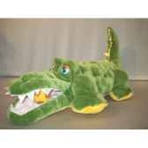 peluche crocodile matelasse 40 cm piutre extr41