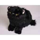 peluche assise chat persan noir 25 cm piutre 2399