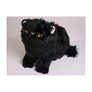 Peluche assise chat persan noir 25 cm Piutre -2399