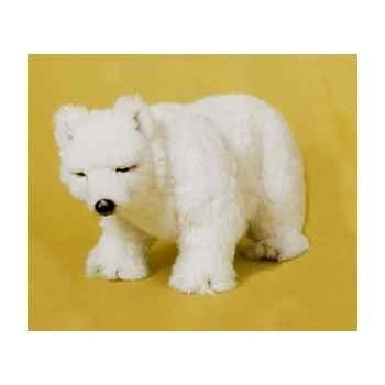 Peluche debout ours polaire 45 cm Piutre -2114
