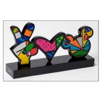 Peace & love plaque n Britto Romero -4025570