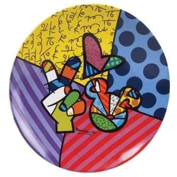 Assiette Peace & love mickey n Britto Romero -4024503