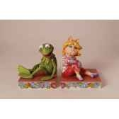 miss piggy kermit the frog bookends n figurines disney collection muppet show 4026093