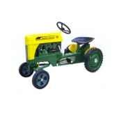 tracteur a pedales vert jaune 79603