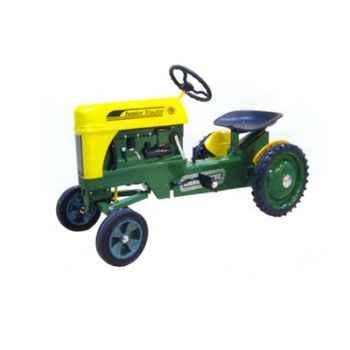 Tracteur à pédales vert jaune - 79603