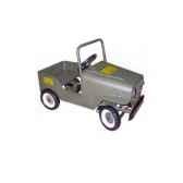 voiture a pedales jeep gris vert 9601